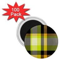 Tartan Pattern Background Fabric Design 1 75  Magnets (100 Pack)  by Simbadda