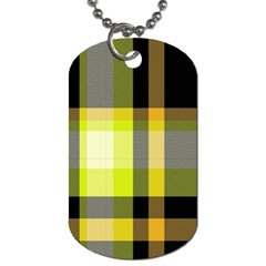 Tartan Pattern Background Fabric Design Dog Tag (two Sides) by Simbadda