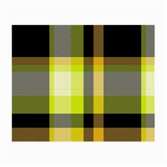 Tartan Pattern Background Fabric Design Small Glasses Cloth by Simbadda