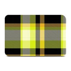 Tartan Pattern Background Fabric Design Plate Mats by Simbadda