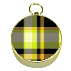 Tartan Pattern Background Fabric Design Gold Compasses by Simbadda