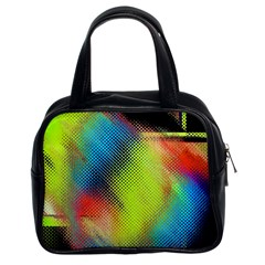Punctulated Colorful Ground Noise Nervous Sorcery Sight Screen Pattern Classic Handbags (2 Sides) by Simbadda