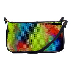 Punctulated Colorful Ground Noise Nervous Sorcery Sight Screen Pattern Shoulder Clutch Bags by Simbadda