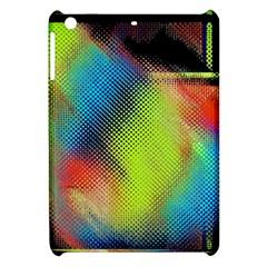 Punctulated Colorful Ground Noise Nervous Sorcery Sight Screen Pattern Apple Ipad Mini Hardshell Case by Simbadda