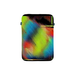 Punctulated Colorful Ground Noise Nervous Sorcery Sight Screen Pattern Apple Ipad Mini Protective Soft Cases by Simbadda