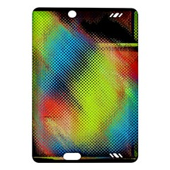 Punctulated Colorful Ground Noise Nervous Sorcery Sight Screen Pattern Amazon Kindle Fire Hd (2013) Hardshell Case by Simbadda