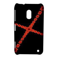 Red Fractal Cross Digital Computer Graphic Nokia Lumia 620 by Simbadda