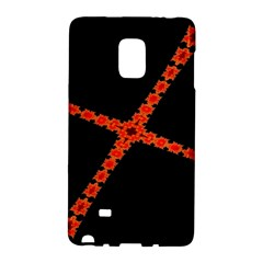 Red Fractal Cross Digital Computer Graphic Galaxy Note Edge by Simbadda