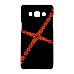 Red Fractal Cross Digital Computer Graphic Samsung Galaxy A5 Hardshell Case  by Simbadda