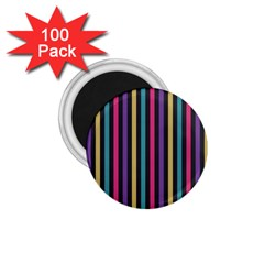 Stripes Colorful Multi Colored Bright Stripes Wallpaper Background Pattern 1 75  Magnets (100 Pack)  by Simbadda