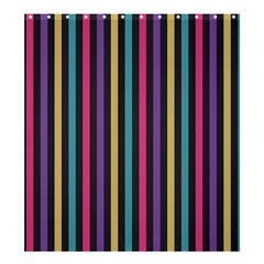 Stripes Colorful Multi Colored Bright Stripes Wallpaper Background Pattern Shower Curtain 66  X 72  (large)  by Simbadda