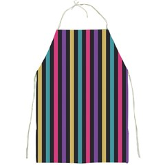 Stripes Colorful Multi Colored Bright Stripes Wallpaper Background Pattern Full Print Aprons by Simbadda