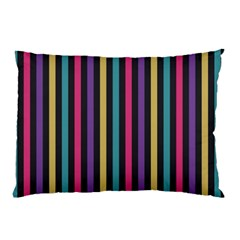 Stripes Colorful Multi Colored Bright Stripes Wallpaper Background Pattern Pillow Case (two Sides) by Simbadda
