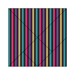 Stripes Colorful Multi Colored Bright Stripes Wallpaper Background Pattern Acrylic Tangram Puzzle (6  X 6 ) by Simbadda