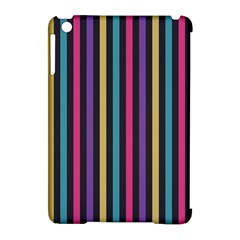 Stripes Colorful Multi Colored Bright Stripes Wallpaper Background Pattern Apple Ipad Mini Hardshell Case (compatible With Smart Cover) by Simbadda