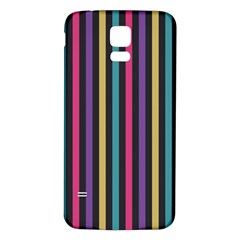 Stripes Colorful Multi Colored Bright Stripes Wallpaper Background Pattern Samsung Galaxy S5 Back Case (white) by Simbadda