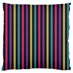 Stripes Colorful Multi Colored Bright Stripes Wallpaper Background Pattern Standard Flano Cushion Case (one Side) by Simbadda