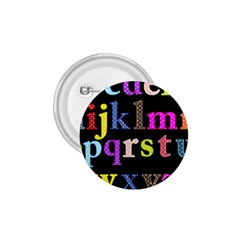 Alphabet Letters Colorful Polka Dots Letters In Lower Case 1 75  Buttons by Simbadda