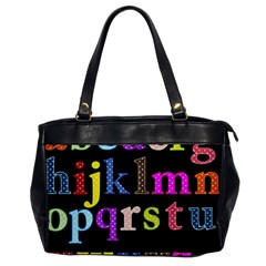 Alphabet Letters Colorful Polka Dots Letters In Lower Case Office Handbags by Simbadda