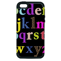 Alphabet Letters Colorful Polka Dots Letters In Lower Case Apple Iphone 5 Hardshell Case (pc+silicone) by Simbadda