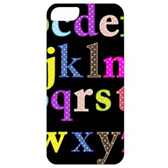 Alphabet Letters Colorful Polka Dots Letters In Lower Case Apple Iphone 5 Classic Hardshell Case by Simbadda