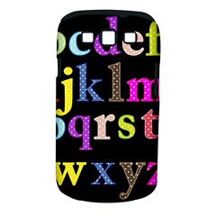 Alphabet Letters Colorful Polka Dots Letters In Lower Case Samsung Galaxy S Iii Classic Hardshell Case (pc+silicone) by Simbadda