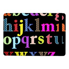 Alphabet Letters Colorful Polka Dots Letters In Lower Case Samsung Galaxy Tab Pro 10 1  Flip Case by Simbadda