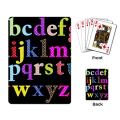 Alphabet Letters Colorful Polka Dots Letters In Lower Case Playing Card by Simbadda