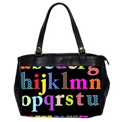 Alphabet Letters Colorful Polka Dots Letters In Lower Case Office Handbags (2 Sides)  by Simbadda
