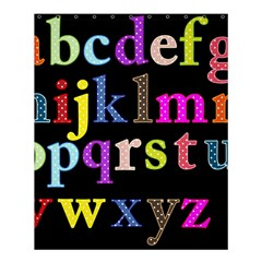 Alphabet Letters Colorful Polka Dots Letters In Lower Case Shower Curtain 60  X 72  (medium)  by Simbadda