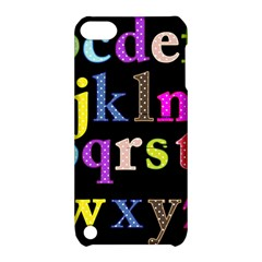 Alphabet Letters Colorful Polka Dots Letters In Lower Case Apple Ipod Touch 5 Hardshell Case With Stand by Simbadda