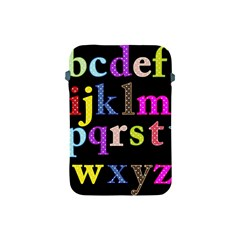 Alphabet Letters Colorful Polka Dots Letters In Lower Case Apple iPad Mini Protective Soft Cases