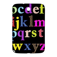 Alphabet Letters Colorful Polka Dots Letters In Lower Case Samsung Galaxy Note 8 0 N5100 Hardshell Case  by Simbadda