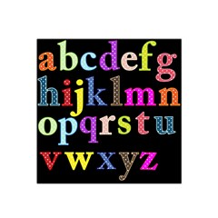 Alphabet Letters Colorful Polka Dots Letters In Lower Case Satin Bandana Scarf by Simbadda