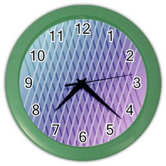 Abstract Lines Background Color Wall Clocks by Simbadda