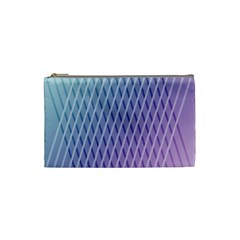 Abstract Lines Background Cosmetic Bag (small)  by Simbadda