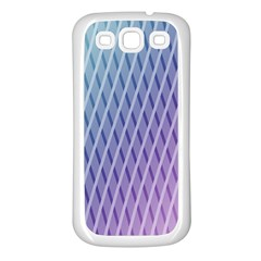 Abstract Lines Background Samsung Galaxy S3 Back Case (white) by Simbadda