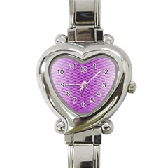 Abstract Lines Background Pattern Heart Italian Charm Watch by Simbadda