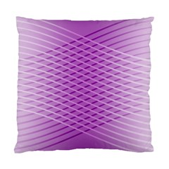 Abstract Lines Background Pattern Standard Cushion Case (one Side) by Simbadda