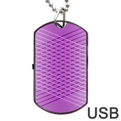 Abstract Lines Background Pattern Dog Tag Usb Flash (two Sides) by Simbadda