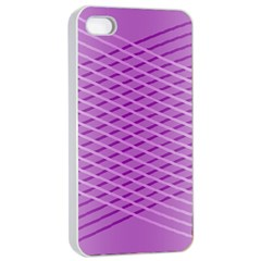 Abstract Lines Background Pattern Apple Iphone 4/4s Seamless Case (white) by Simbadda