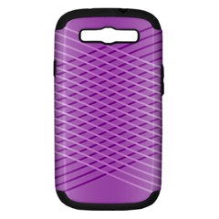 Abstract Lines Background Pattern Samsung Galaxy S Iii Hardshell Case (pc+silicone) by Simbadda