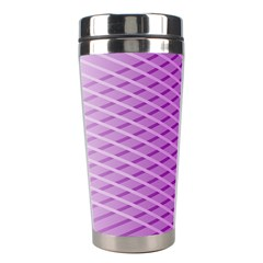 Abstract Lines Background Pattern Stainless Steel Travel Tumblers by Simbadda