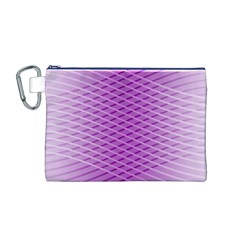 Abstract Lines Background Pattern Canvas Cosmetic Bag (m) by Simbadda