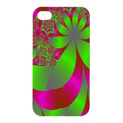 Green And Pink Fractal Apple Iphone 4/4s Hardshell Case by Simbadda