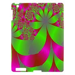 Green And Pink Fractal Apple Ipad 3/4 Hardshell Case by Simbadda