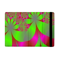 Green And Pink Fractal Apple Ipad Mini Flip Case by Simbadda