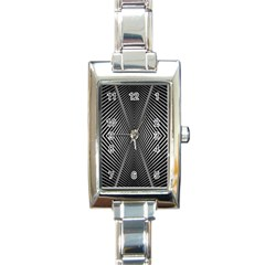 Abstract Of Shutter Lines Rectangle Italian Charm Watch by Simbadda