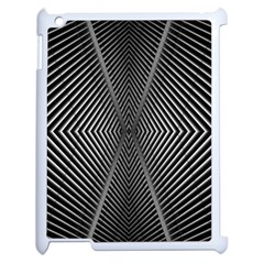 Abstract Of Shutter Lines Apple Ipad 2 Case (white) by Simbadda