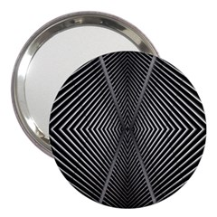 Abstract Of Shutter Lines 3  Handbag Mirrors by Simbadda